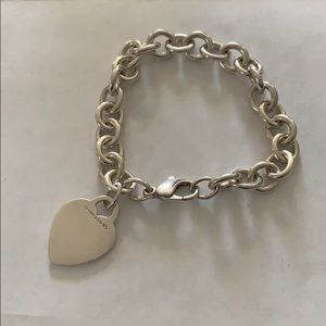 EUC Tiffany & Co. Heart Tag Charm Bracelet